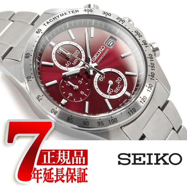 【SEIKO SPIRIT】セイコー スピリット クオーツ クロノグラフ 腕時計 メンズ レッド SBTR001【あす楽】