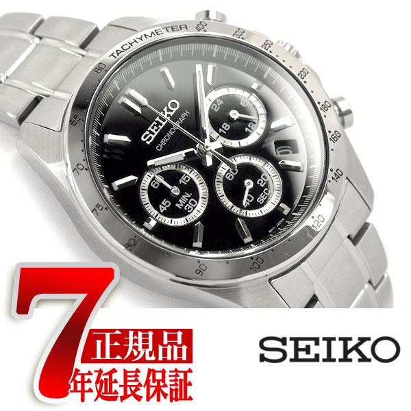 【SEIKO SPIRIT】セイコー スピリット クオーツ クロノグラフ 腕時計 メンズ ブラック SBTR013【あす楽】