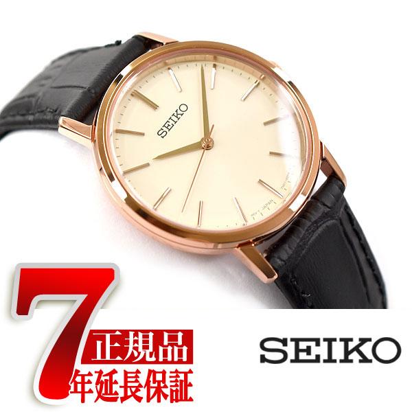 【母の日ギフト】【正規品】セイコー セレクション SEIKO SELECTION 流通限定モデル ゴールドフェザー ペアモデル クオーツ 腕時計 レディース SCXP086