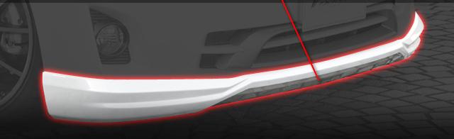 TOYOTA VELLFIRE ヴェルファイア (GGH20W 25W) V X用フロントハーフスポイラーツートン 送料無料 A0421