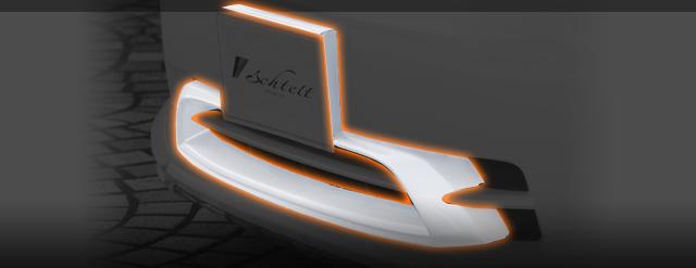 TOYOTA VELLFIRE ヴェルファイア (GGH20W 25W) V X用ナンバーフレームエクステンション 送料無料 A0547