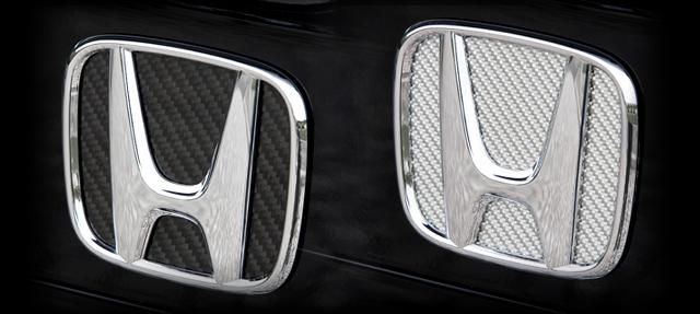 RK1 在庫一掃売り切りセール 2ステップワゴン 新作製品、世界最高品質人気! リアルカーボンエンブレムデコレーション A0715 送料無料