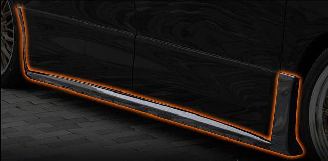 TOYOTA VELLFIRE ヴェルファイア GGH20 25後期 Z V X ZR サイドステップ 未塗装 送料無料 A0749