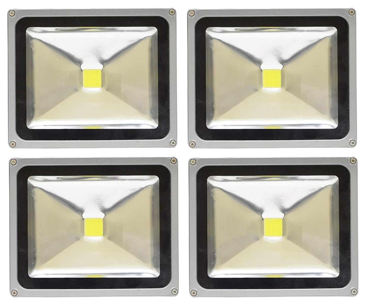 【4個セット】LED 投光器 30W 300W相当 LED投光器 昼光色 6000K 広角120度 防水加工 3mコード付き 【ledライト 投光機 看板灯 集魚灯 作業灯 駐車場灯 ナイター 屋内 屋外 照明 船舶 人気】 送料無料 A42C