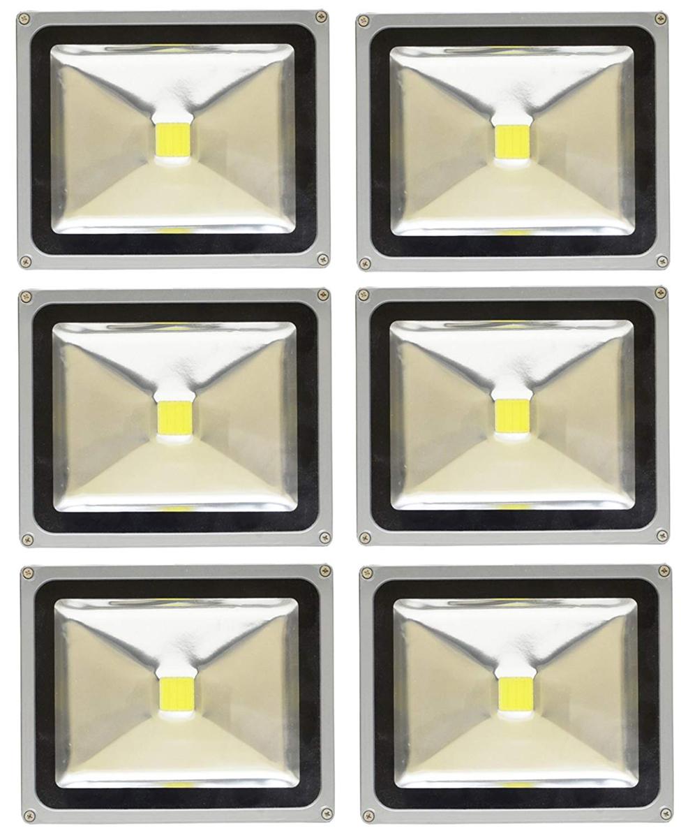 【6個セット】LED 投光器 30W 300W相当 LED投光器 昼光色 6000K 広角120度 防水加工 3mコード付き 【ledライト 投光機 看板灯 集魚灯 作業灯 駐車場灯 ナイター 屋内 屋外 照明 船舶 人気】 送料無料 A42C