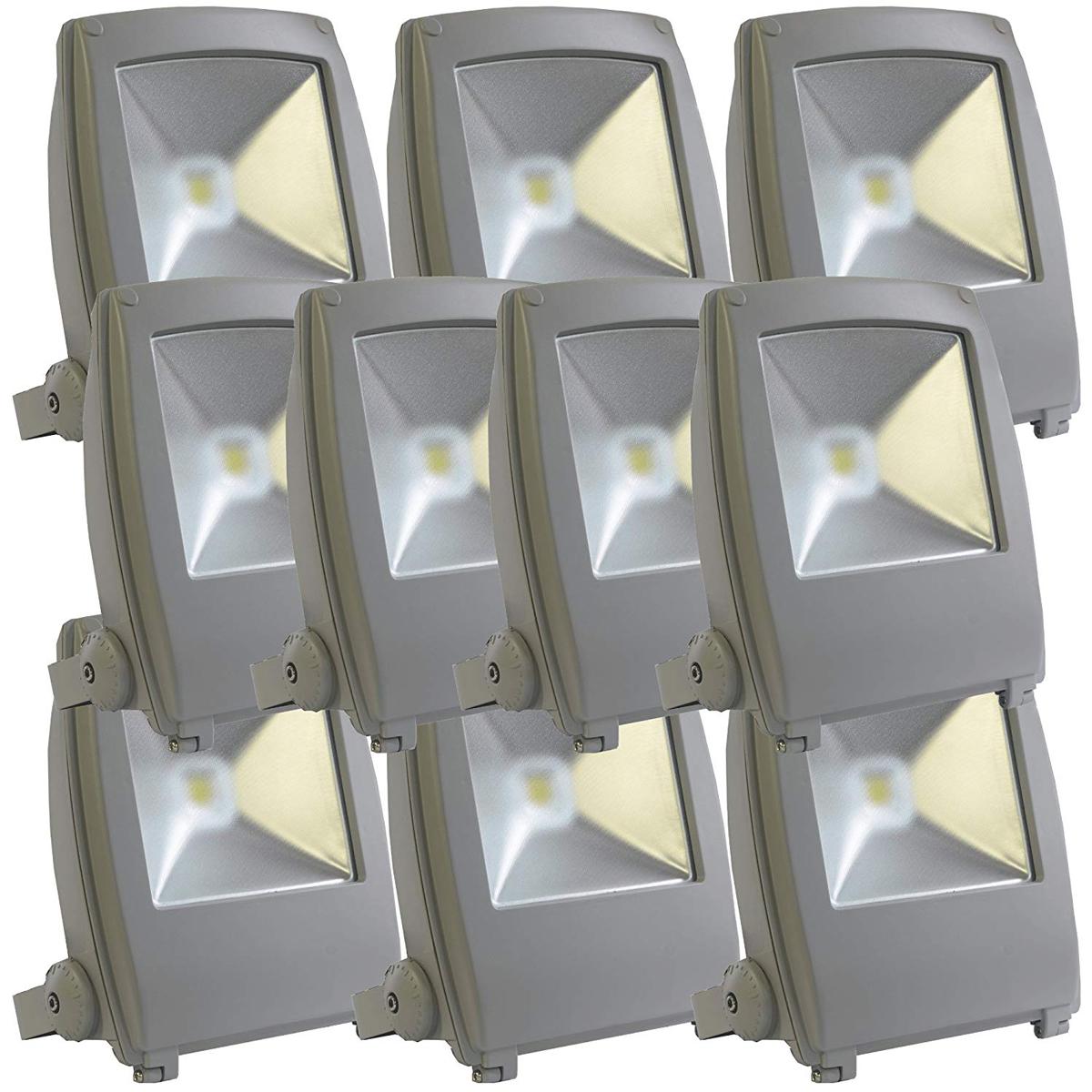 【10個セット】LED投光器 50W 500W相当 フラットタイプ 昼光色 作業灯 集魚灯 防犯 送料無料 A42Y50BSET10
