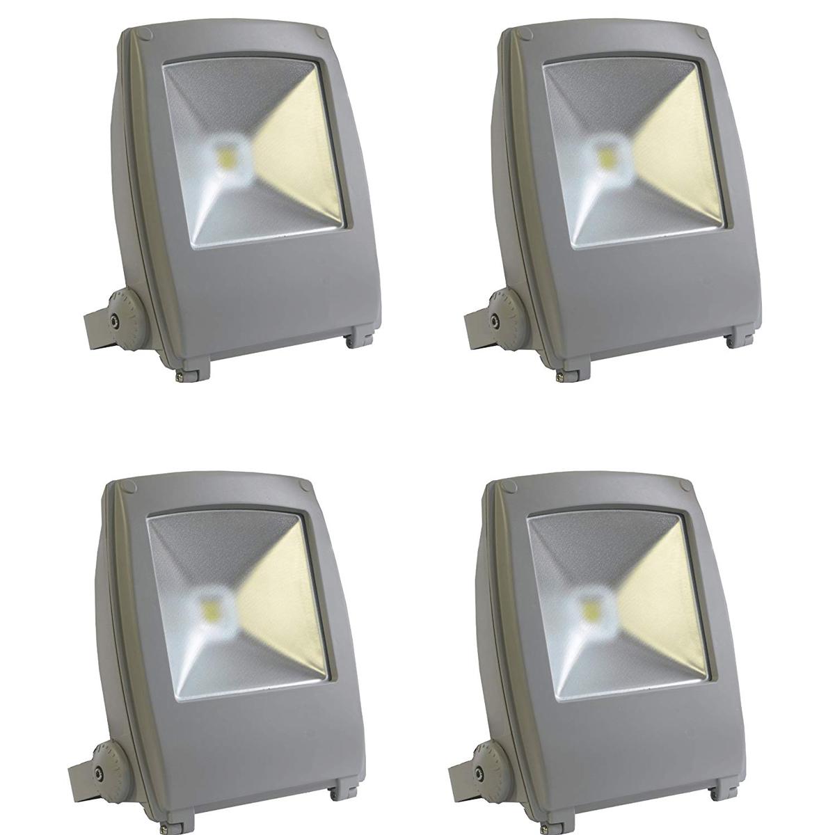 【4個セット】LED投光器 50W 500W相当 フラットタイプ 昼光色 作業灯 集魚灯 防犯 送料無料 A42Y50BSET4