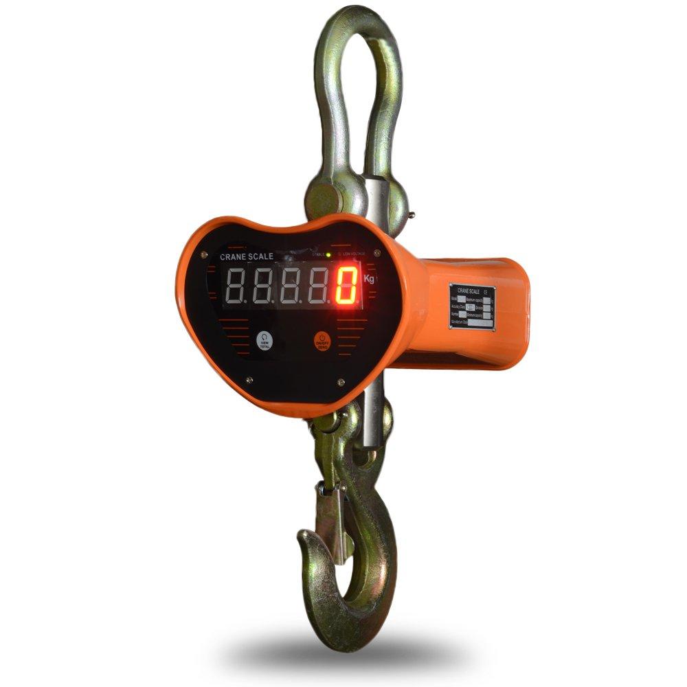 デジタルクレーンスケール 吊秤 5トン 5t [充電式 スケール 秤 クレーン 吊秤 デジタル吊りはかり 吊り秤 デジタル クレーン スケール 計量 計測 吊り下げ 大型 はかり] 送料無料 A445T