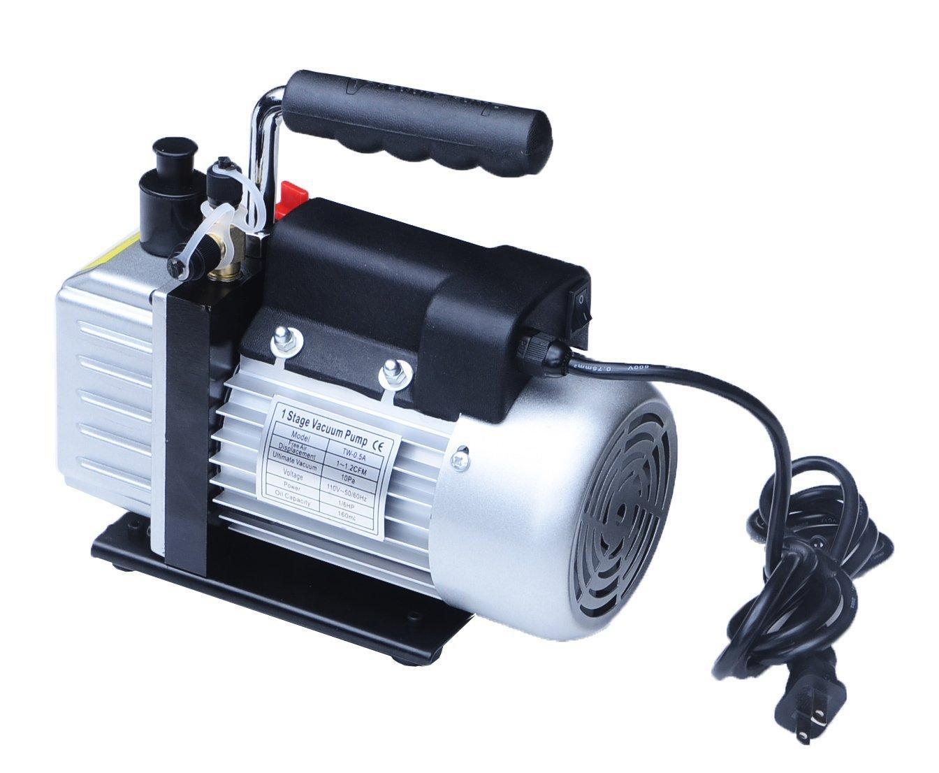 真空ポンプ 電動真空ポンプ 小型 シングルステージ エアパージ 家庭用エアコン カーエアコン ルームエアコン 窓エアコン メンテに大活躍 真空 ポンプ 電動 車 ガス 充填 修理 送料無料 A68N05