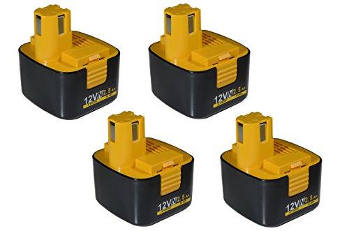 【4個セット】EZ9200 EZ9108 EY9200 EY9201 対応互換 Panasonic National パナソニック(ナショナル) バッテリー 12V 2500mAh ニッケル水素電池 電動工具 パワーツール 電池 互換バッテリー 電池パック 4個 送料無料 BATP01