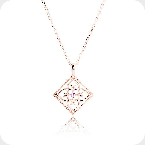 Jewelry Museum Necklace Pink Sapphire Venice Necklace Heart Pink