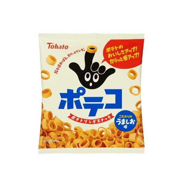 指もほおばる カリッと食感のポテトリングスナック 東ハト 新品未使用 ポテコ 訳あり品送料無料 1ケース YB 78g×12袋 うましお味