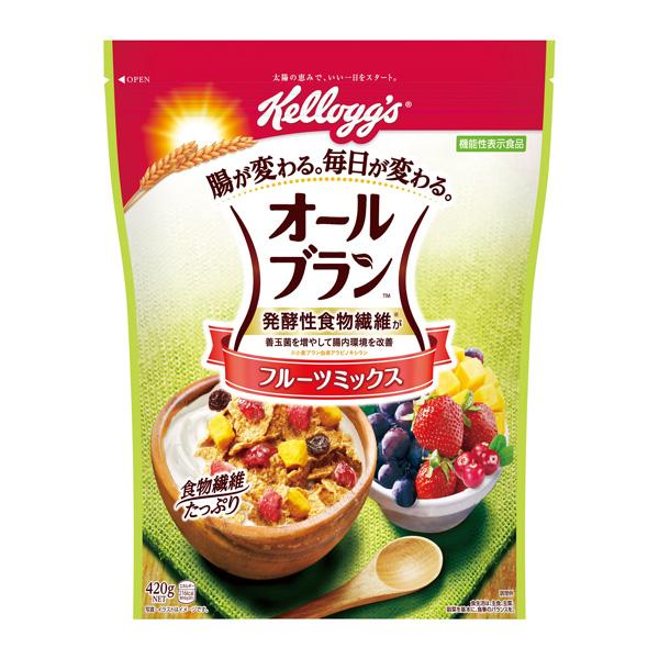 フルーツが入った食物繊維たっぷりの小麦ブランシリアル ケロッグ オールブランフルーツミックス徳用 低価格 1ケース 420g×6個入り KT 海外