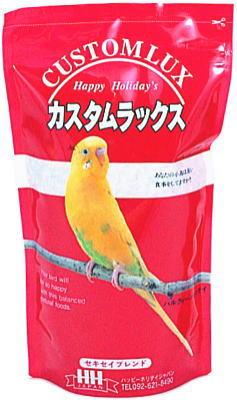 ピーツー・アンド・アソシエイツ カスタムラックス セキセイ 0.83L [鳥 フード、餌 、フード 、えさ 、とり 、エサ 、ハッピーホリデイ]