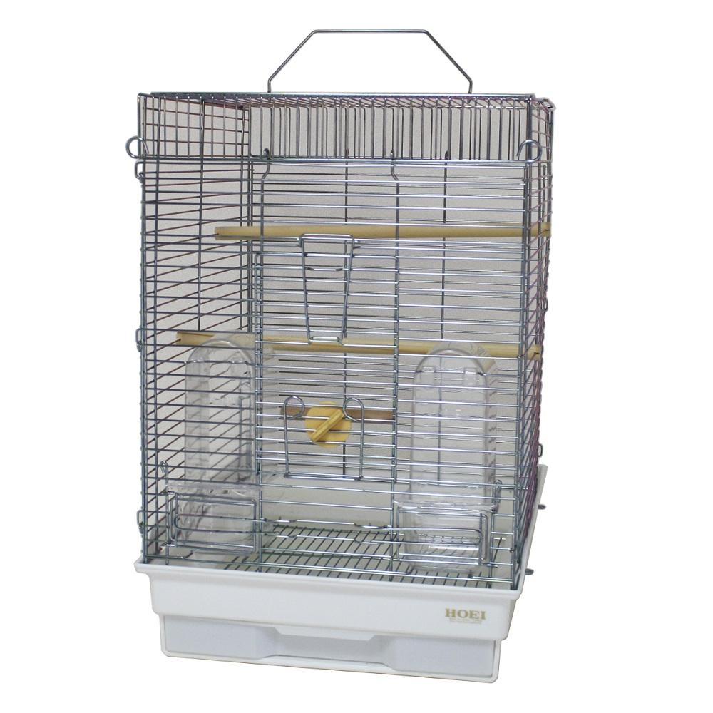 HOEI 35手のりホライズンセキセイ(銀色メッキ) (鳥かご、ケージ)