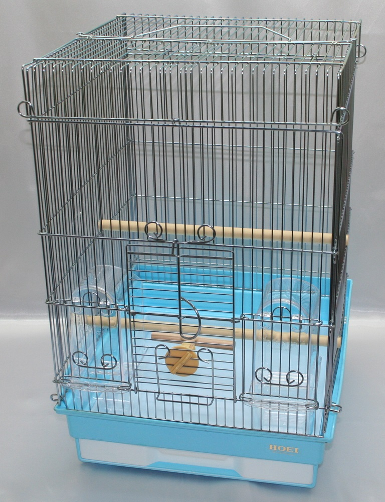HOEI 35手のりG(銀色メッキ) ブルー底(鳥かご、ケージ)