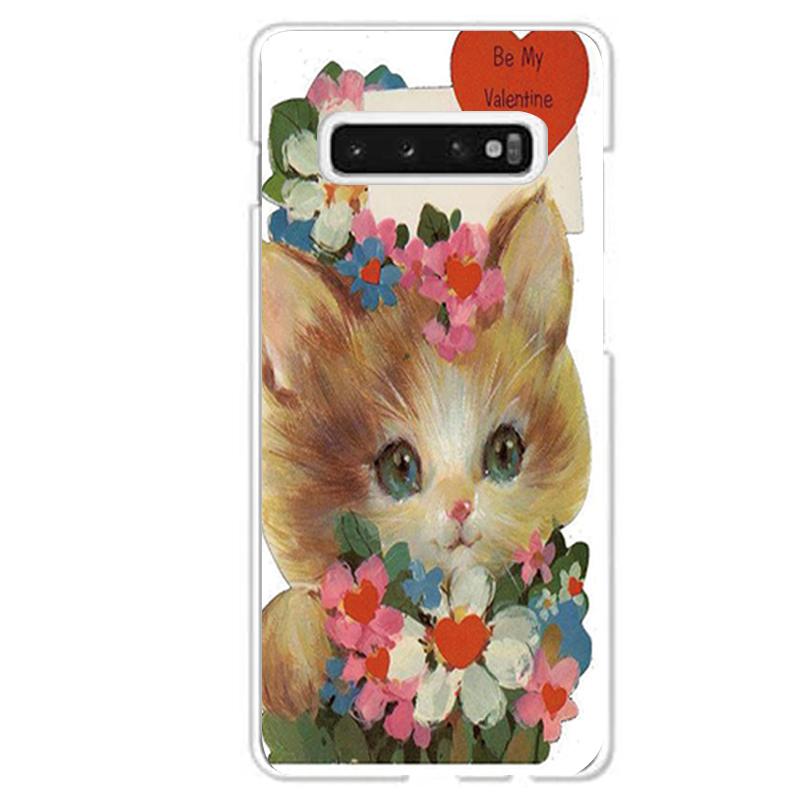 Galaxy S10専用定形外発送 送料無料 S10専用 バレンタイン 猫 ネコ キャラクター かわいい 大注目 アンティーク調 SCV41 本物 SC-03L 花束
