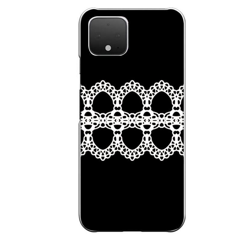 Google Pixel 4専用定形外発送 新作 送料無料 4専用 ゴスロリ系 ブラック ガーリー 黒 中央 レース 白 ホワイト 上品