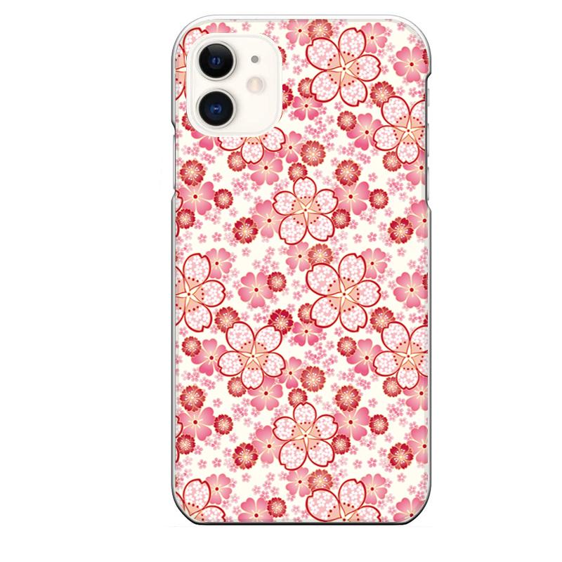 iPhone 11専用定形外発送 送料無料 最安値挑戦 11専用 和風 和柄 ピンク 花 さくら かわいい 桜 年間定番