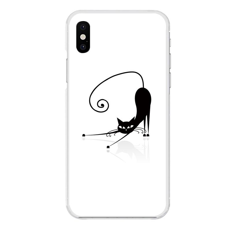 iPhone XS専用定形外発送 送料無料 XS専用 安心の定価販売 ネコ スリム 特価キャンペーン かわいい アニマル ガーリー キュート 動物 黒猫