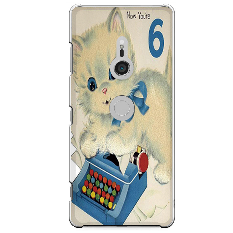 Xperia XZ3専用定形外発送 送料無料 マート XZ3専用 6匹 猫 ネコ キャラクター アンティーク調 SO-01L 801SO かわいい タイプライター ショップ SOV39