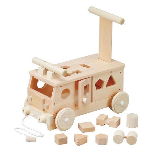 【送料無料】 木製玩具 森のパズルバス(手押し、乗用玩具)