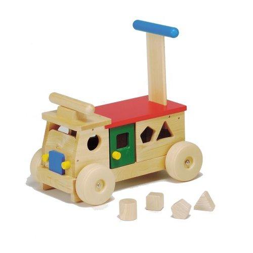 【送料無料】 乗用玩具 カラフルバス(パズル)