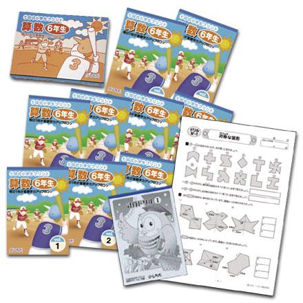 【送料無料】 ポイント6倍 七田式教材(しちだ) 小学生プリント6年生 算数