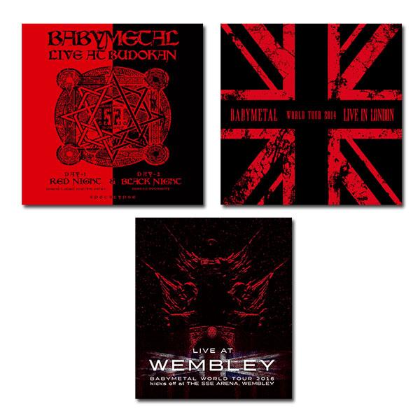 【送料無料】 BABYMETAL LIVE Blu-ray 3作セット / AT BUDOKAN + IN LONDON + AT WEMBLEY 通常盤