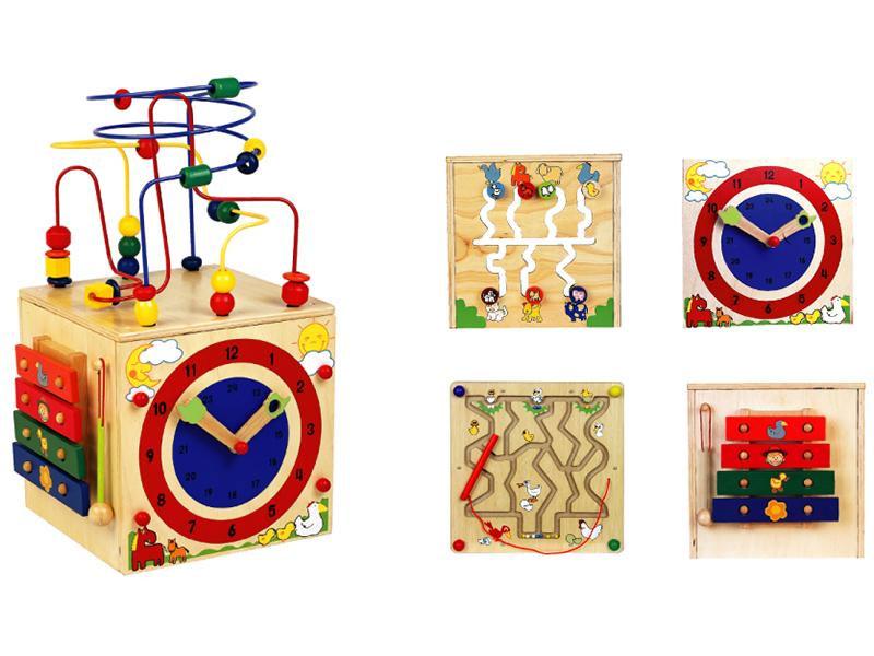 【送料無料】 木製玩具 アクティビティキューブ