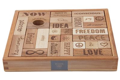 【送料無料】 ポーランド 木製玩具 積み木 Wooden Story(ウドゥン・ストーリー) ピース・アンド・ラブ・ブロック(29pcs)