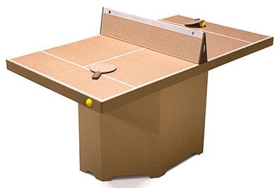 【送料無料】 ドイツ kickpack(キックパック) テニーノ ブラウン ダンボール製組み立てテーブルテニス