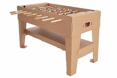 【送料無料】 ドイツ kickpack(キックパック) カルトーニ2.0 ブラウン ダンボール製組み立てテーブルサッカー