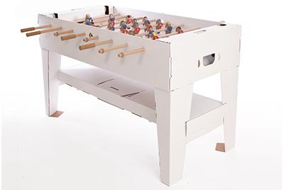 【送料無料】 ドイツ kickpack(キックパック) カルトーニ2.0 ホワイト特別版 ダンボール製組み立てテーブルサッカー