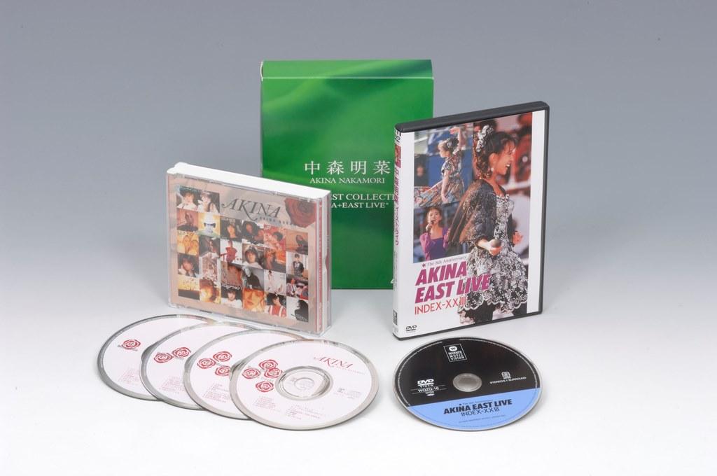 """【送料無料】 中森明菜 AKINA NAKAMORI SUPER BEST COLLECTION """"AKINA+EAST LIVE"""" 4CD BEST ALBUM + BEST SELLER DVD""""EAST LIVE"""" 5枚組(CD4枚+DVD1枚)"""