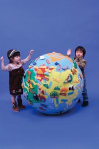 【送料無料】 布製 ゴロリン地球儀