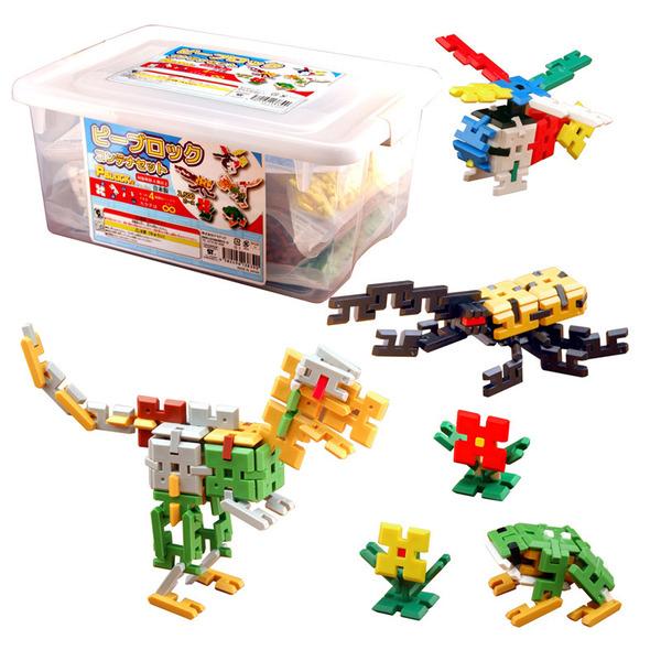 【送料無料】 知育玩具 ピーブロック PBLOCK コンテナ2500セット 日本製