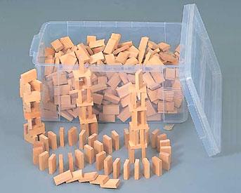 【送料無料】 木製ドミノたおし500コンテナBOX