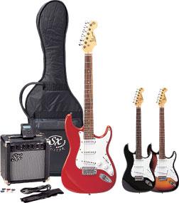 【送料無料】 初心者向け 楽器 SX エレクトリックギター・セット