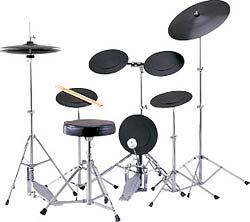 【送料無料】 初心者向け 楽器 トレーニング用ドラムセット