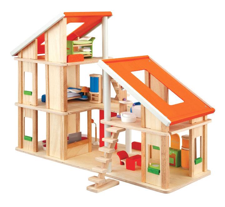 【送料無料】 PLANTOYS(プラントイ) 7141 家具付きシャレードールハウス