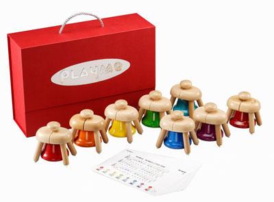 【送料無料】 UKK 木製知育玩具 楽器 A0809 パットベル (ハンドベル)