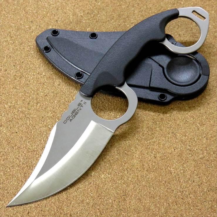 COLD STEEL コールドスチール カランビット ネックナイフ ダブルエイジェント2 全長195mm 刃部80mm ハードカバー付 アウトドアナイフ 39FN