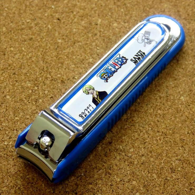 格安激安 関の刃物 期間限定 アニメ ONE PIECE ワンピース サンジ 国産日本製 やすり付き爪切り ブルー 海外へのお土産 ネイルクリッパー 送料無料