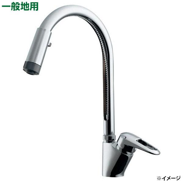 カクダイ シングルレバー混合栓(シャワつき) 117-120