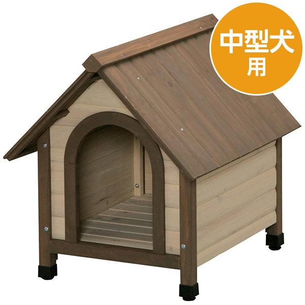 【直送】【代引・日時指定不可】アイリスオーヤマ ウッディ犬舎 ドッグハウス WDK-600 中型犬用【沖縄・離島配送不可】