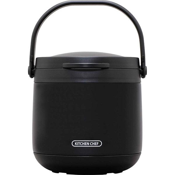 アイリスオーヤマ ダブル真空保温調理鍋 おまかせさん RWP-N45ブラック