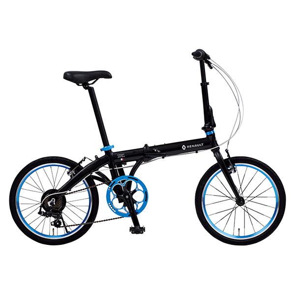 ルノー 20型 アルミ折畳み自転車 ライト10 AL207 ブラック 11280-01【沖縄・離島配送不可】