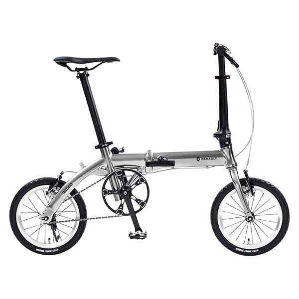 14型 ルノー アルミ折畳み自転車 プラチナライト6 シルバー 11285-09【沖縄・離島配送不可】