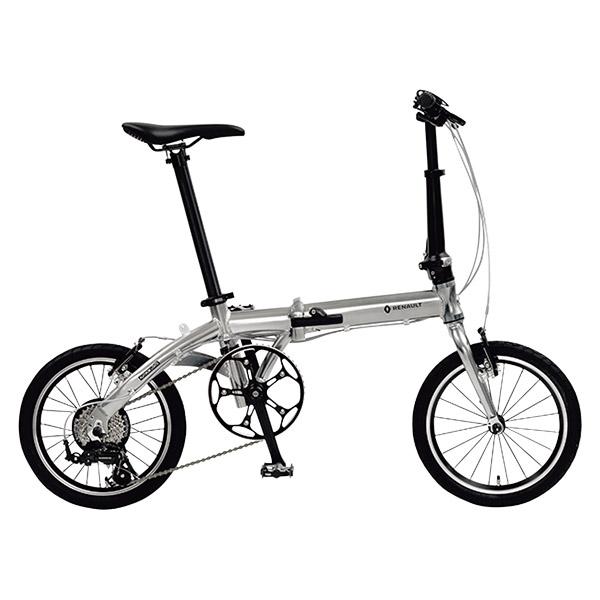 16型 ルノー アルミ 折畳み自転車 プラチナライト8 シルバー 11296-09【沖縄・離島配送不可】